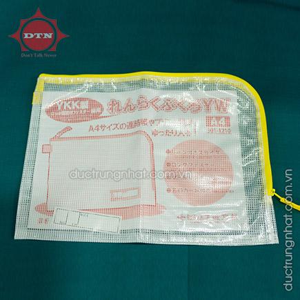 Túi PVC lưới dây kéo