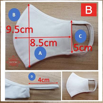 Khẩu trang vải (Cotton Mask) B size